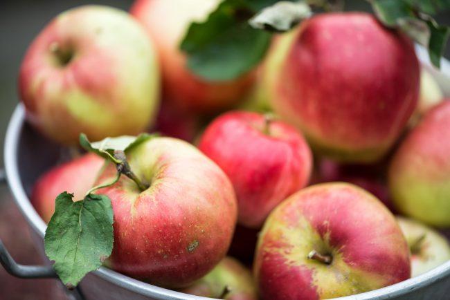 Äpfel in Metalltopf