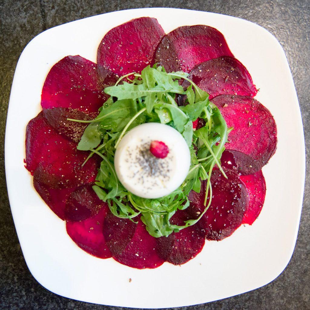 Rote Rüben Salat von oben
