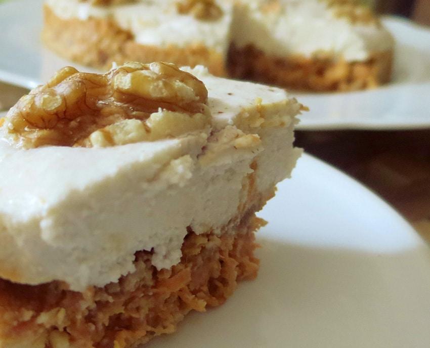 Karotten-Nuss Tortenstück von Bloggerin Nika