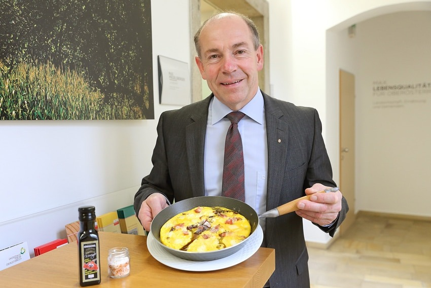 Max' Eierspeis mit Kürbiskernöl