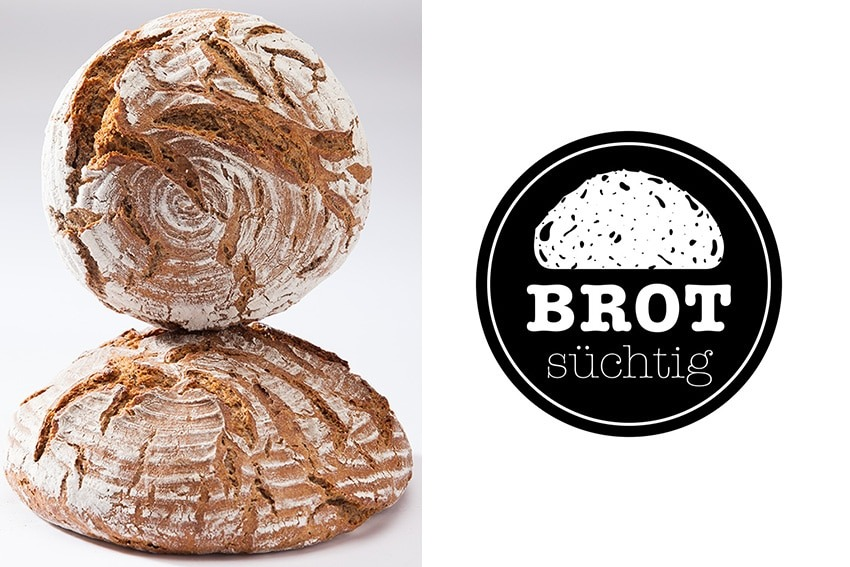 Logo und Brot von brotsüchtig in Linz