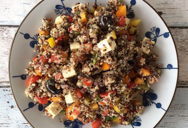 Quinoa-Salat mit Ziegenkäse von Leckermäulchen