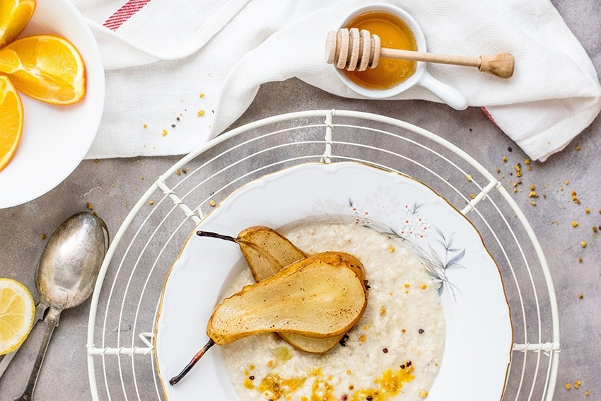 Porridge mit Birnen