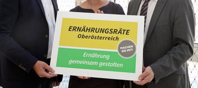 Pressekonferenz bzgl. Ernährungsräte OÖ mit Agrar-Landesrat Hiegelsberger