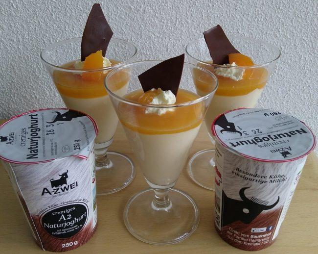 Marillencreme mit A2-Naturjoghurt