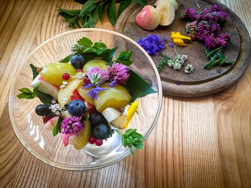Wildkräuter-Obstsalat von Christa Seyr