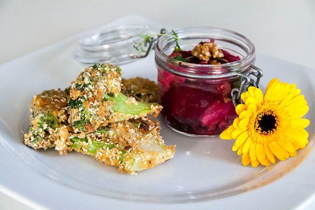 Sesam-Brokkoli-Schnitzel der LFS Mauerkirchen